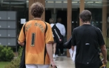 Andy Murray sporting a Wolves shirt